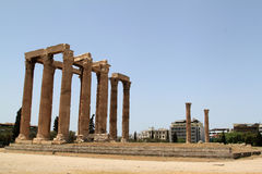 Temple of the Olympian Zeus. At Athens, Greece Royalty Free Stock Photo