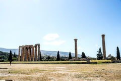 Temple of the Olympian Zeus in Athens, Greece Stock Photo