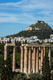 Temple of the Olympian Zeus in Athens, Greece. Temple of the Olympian Zeus in Athens,Greece Royalty Free Stock Images