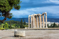 Temple of Olympian Zeus in Athens, Greece.  Royalty Free Stock Photos