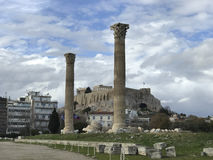 The Temple of Olympian Zeus Royalty Free Stock Photos