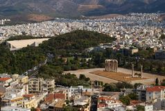 Temple of Olympian Zeus, Athens, Greece Royalty Free Stock Image