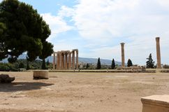 Temple of Olympian Zeus, Athens, Greece Royalty Free Stock Photos