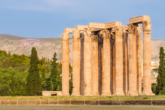 The temple of Olympian Zeus, Athens, Greece. Stock Image