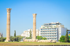 Temple of Olympian Zeus in Athens, Greece Royalty Free Stock Photo