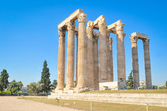 Temple of Olympian Zeus in Athens, Greece. Architectural detail of the Temple of Olympian Zeus in Athens, Greece Stock Image