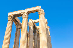 Temple of Olympian Zeus in Athens, Greece. Architectural detail of the Temple of Olympian Zeus in Athens, Greece Stock Photos