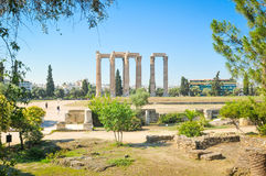 Temple of Olympian Zeus in Athens, Greece. Architectural detail of the Temple of Olympian Zeus in Athens, Greece Royalty Free Stock Photo