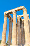 Temple of Olympian Zeus in Athens, Greece. Architectural detail of the Temple of Olympian Zeus in Athens, Greece Stock Images