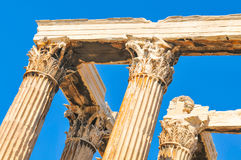 Temple of Olympian Zeus in Athens, Greece. Architectural detail of the Temple of Olympian Zeus in Athens, Greece Stock Photos