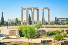 Temple of Olympian Zeus in Athens, Greece. Architectural detail of the Temple of Olympian Zeus in Athens, Greece Royalty Free Stock Photos