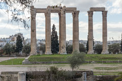 Temple of Olympian Zeus in Athens, Greece Stock Image