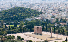 Temple of Olympian Zeus, Athens Greece Royalty Free Stock Photos