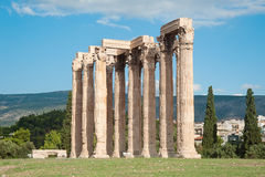 Temple of Olympian Zeus in Athens, Greece 2. Fragment of the Temple of Olympian Zeus in Athens, Greece Stock Photo