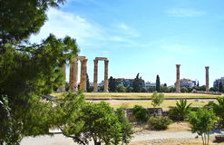 Temple of Olympian Zeus in Athens Greece. Greek landmarks Stock Photography