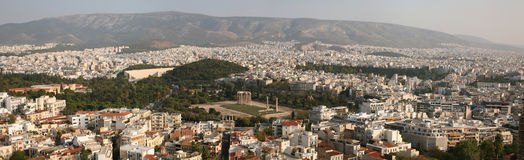 Temple of Olympian Zeus in Athens, Greece. Royalty Free Stock Images