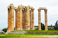 Temple of Olympian Zeus in Athens. ? Greece on an overcast day Royalty Free Stock Images