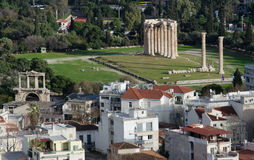Temple of Olympian Zeus in Athens, Greece stock photo