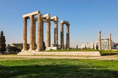 Temple of Olympian Zeus, Athens, Greece. Stock Photos