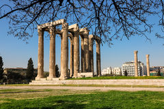 Temple of Olympian Zeus, Athens, Greece. Temple of Olympian Zeus Athens Greece, spring 2017 Royalty Free Stock Photo
