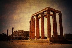 Temple of Olympian Zeus, Athens, Greece stock photography