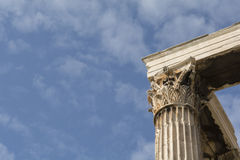 Temple of Olympian Zeus, at Athens, Greece. Towering pillars of the Temple of Olympian Zeus, at Athens, Greece Stock Photography