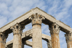Temple of Olympian Zeus, at Athens, Greece. Towering pillars of the Temple of Olympian Zeus, at Athens, Greece Stock Images