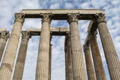 Temple of Olympian Zeus, at Athens, Greece. Towering pillars of the Temple of Olympian Zeus, at Athens, Greece Stock Photo