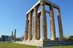 Temple of the Olympian Zeus at Athens. And park Royalty Free Stock Image