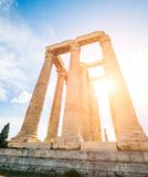 Temple of Olympian Zeus at Athens. Ruins of the Temple of Olympian Zeus at Athens royalty free stock image