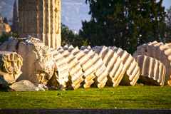 Temple of Olympian Zeus in Athens. Ruins of the temple of Olympian Zeus in Athens, Greece Royalty Free Stock Photography
