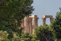 Temple of Olympian Zeus columns, Athens, Greece. Photo taken from National Gardens in April 2016 Stock Photos