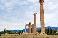 Temple of Olympian Zeus. Columns of the Olympian Zeus temple in Athens Stock Image
