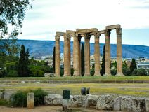 Temple of Olympian Zeus. Columns of the Olympian Zeus temple in Athens Stock Photography