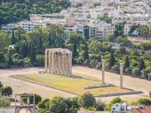 Temple of Olympian Zeus. Columns of the Olympian Zeus temple in Athens Royalty Free Stock Image