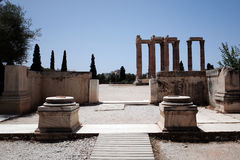 Temple of the Olympian Zeus. Entrance of Temple of the Olympian Zeus at Athens, Greece Stock Image