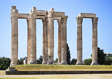 Temple of Olympian Zeus Greece. The Temple of Olympian Zeus in Athens Greece Royalty Free Stock Image