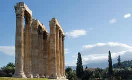 Temple of Olympian Zeus. Greek columns at the Temple of Olympian Zeus in Athens, Greece Stock Photo