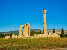 Temple of Olympian Zeus. Athens, Attica, Greece. Royalty Free Stock Images