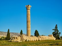 Temple of Olympian Zeus. Athens, Attica, Greece. Stock Image