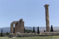 Temple of Olympian Zeus. The Temple of Olympian Zeus or the Olympieion royalty free stock images