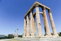 Temple of Olympian Zeus. The Temple of Olympian Zeus or the Olympieion royalty free stock image