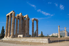 Temple of Olympian Zeus Olympieion, Athens Stock Images