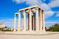 Temple of Olympian Zeus. The Temple of Olympian Zeus or the Olympieion is a monument of Greece and a former colossal temple in the centre of the Greek capital Stock Photos