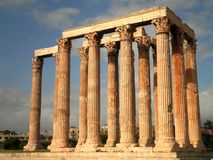 Temple of Olympian Zeus. The ruins of the Temple of Olympian Zeus Royalty Free Stock Images