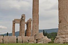 Temple of Olympian Zeus. Ruins of the Temple of Olympian Zeus. Athens, Greece stock photos