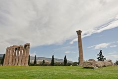 Temple of Olympian Zeus. Ruins of the Temple of Olympian Zeus. Athens, Greece Stock Photo