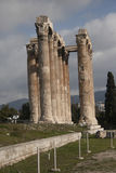 Temple of Olympian Zeus. The ruins of the Temple of Olympian Zeus and a column that collapsed in 1852 in the foreground, Athens Stock Photography