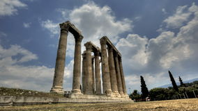 Temple of Olympian Zeus stock video footage