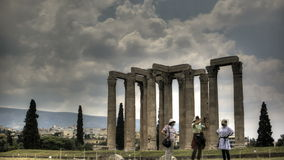 Temple of Olympian Zeus stock footage